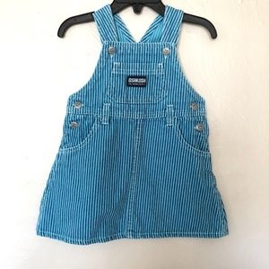 OshKosh Blue Strip Overall Jean Denim Jumper Dress